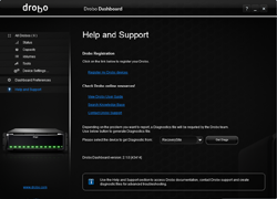 Drobo Dashboard Help and Support